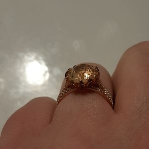 Jewelry - **ROSE GOLD** and multi colored diamond ring